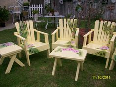 Painted Patio Set