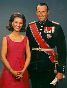 roi harald et la reine sonja de Norvège