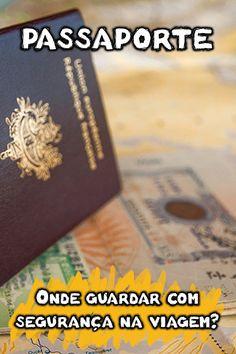 Onde guardar o passaporte em segurança durante as viagens? Descubra qual é a melhor forma de andar com passaporte no exterior: deixar no cofre do hotel, dentro da mala, viajar com cópia autenticada do passaporte, quais páginas tirar cópia e outras dicas infalíveis para deixar o seu documento de viagem protegido. Travel Checklist, Travel List, Eurotrip, Paris France, Orlando, Helpful Hints, Portugal, Tourism, Places To Visit