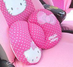 Amazon.com: Hello Kitty Sanrio Comfortable Lumbar Back Cushion pink by H-M Shop: Automotive