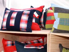 Pillows made from scrap fabric