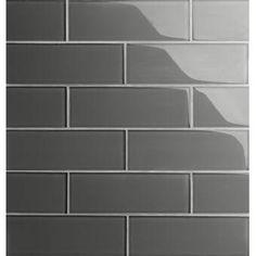 "Ivy Hill Tile Newport Polished 2"" x 10"" Ceramic Subway Tile & Reviews Glazed Ceramic Tile, Ceramic Subway Tile, Glass Subway Tile, Glass Mosaic Tiles, Mosaic Wall, Buy Tile, Glass Installation, Wood Look Tile, Nantucket"