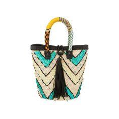 Sequin Basket Bag - En Shalla - Designers   30PonteV.com