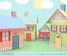 Happy Houses printable.  This website has adorable printables!!