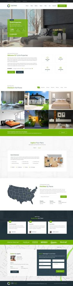Tyche Properties is real estate PSD #Template suitable for all types of Single #Property businesses #websites. Download Now!