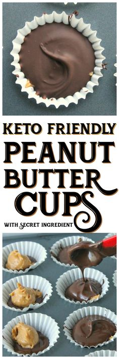 Keto Peanut Butter Cups with Secret Ingredient | MoscatoMom