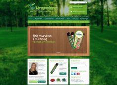Nieuw #ontwerp #webshop Go!Greenstore, www.gogreenstore.nl, onderdeel van Your Health Coach.