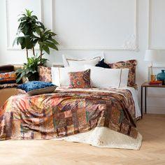 VELOURS SPREI MET PRINT - Dekens - Bed | Zara Home Netherlands