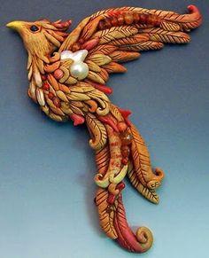 """Pheonix"" ploymer clay genius. www.cforiginals.com"