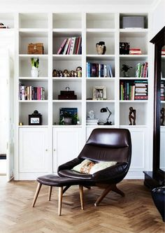 Source: Design Attractor  Perfect place to relax and read a book Also the perfect mix of vintage and contemporary.