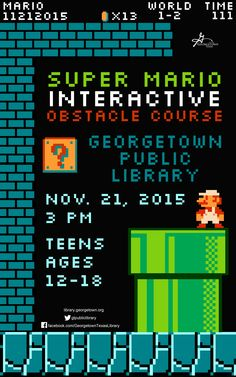 Super Mario Interactive Obstacle Course - November 21, 2015 - 3PM.