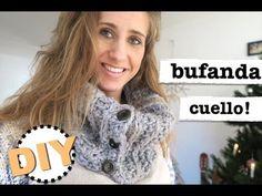 COMO HACER BUFANDA CUELLO CON GANCHILLO NIVEL PRINCIPIANTES - YouTube