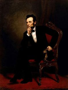 Official White House Portrait of Abraham Lincoln (by George Peter Alexander Healy, 1869) ~ 16th President of the United States. (Term: 1861-1865) Abraham Lincoln was the first president to be assassinated while in office. He led the country during the Civil War, and he issued the Emancipation Proclamation.