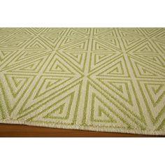 Indoor/Outdoor Diamond Area Rug - Green (7'x10') : Target