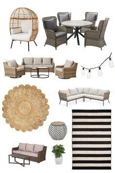 Outdoor Patio Flooring Ideas, Outdoor Patio Designs, Outdoor Decor, Diy Patio, Wood Patio, Deck Furniture, Outdoor Furniture Sets, Furniture Ideas, Patio Decorating Ideas On A Budget