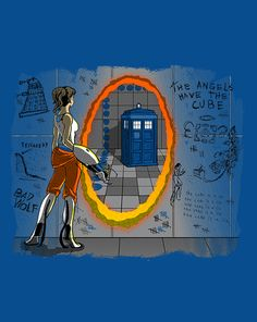 In Need of a Companion | $10 Portal and Doctor Who mashup tee at ShirtPunch today only!