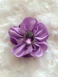 Double Layered Lilac and Lavender Hair Clip by BandsForBabes, $3.50