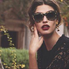 ce4bf273ee5 Dolce   Gabbana Accessories - Dolce   Gabbana Golden Leaves Sunglasses  Bianca Balti