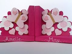 Butterfly bookends handmade by Pineneedles