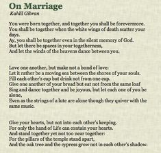 love...a moving sea between the shores of your souls.   Kahlil Gibran on Marriage