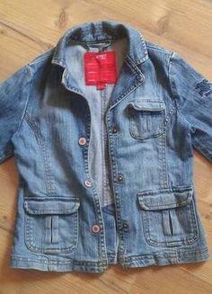 Kaufe meinen Artikel bei #Mamikreisel http://www.mamikreisel.de/kleidung-fur-madchen/outdoorbekleidung-jacken/41765118-jeansjacke-von-esprit-gr-116122