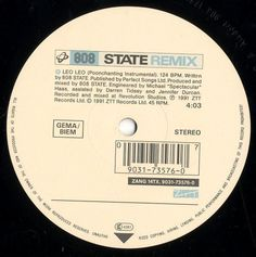 808 State ‎– In Yer Face (Remix) GER 1991 Maxi near mint