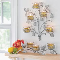 Bringing a little spring indoors - Garden Sanctuary Nest Tabletop and Wall Sconce #PartyLite