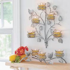 Puutarhakeidas -seinälampetti ja Linnunpesä -kynttiläsomiste