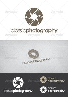 Classic Photography  Logo Template #lens #vector #camera • Download ➝…