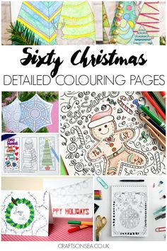 60 Free Detailed Christmas Colouring Pages