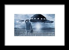 Alien Framed Print featuring the photograph Alien Invasion Cyberpunk Version by…