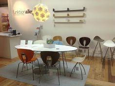 funktionalley blog - original design for funksake... Stua Globus chairs - Lammhults Saturn table - Aperture Light shade from Luminosity. Iform pocket shelves