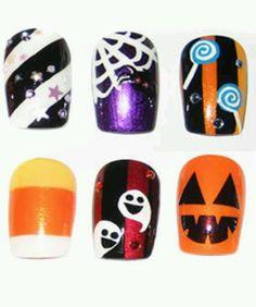 Halloween nail art check out www.MyNailPolishObsession.com for more nail art ideas.
