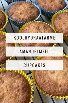 Koolhydraatarme amandelmeel cupcakes - Save the Mama Low Carb Recipes, Cooking Recipes, Healthy Recipes, Keto Cupcakes, Healthy Sugar, Keto Snacks, Lchf, Good Food, Food And Drink