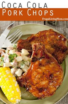 Coca Cola Pork Chops- Here is a super easy and simple dish for dinner and it takes little to no work, which I LOVE! You will get moist and delicious pork chops with this recipe. If you family wants a new pork chop recipe, here is the one for you. Pork Chip Recipes, Meat Recipes, Dinner Recipes, Cooking Recipes, Healthy Recipes, Quick Pork Chop Recipes, Syrian Recipes, Endive Recipes, Recipies