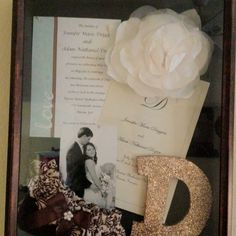 Wedding shadow box I made  @KellyDeMeo... you'll have to help me with this!