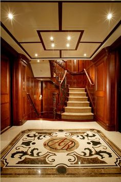 Entry hall, Stairway ... Greg Norman's Yacht