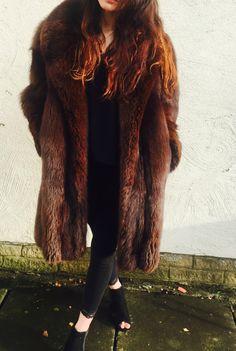 Amazing Brown Real Fox Fur Coats/Jackets | eBay