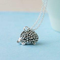 Teeny Tiny Hedgehog Necklace
