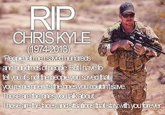 Chris kyle is truley an american hero! It sickens me to see how people are trying to tarnish his reputation and belittle the values that chris and many troops believe in and risk their lives for! We should all respect and give thanks to the brave men and women who serve our country and protect our freedoms, regardless of political party.