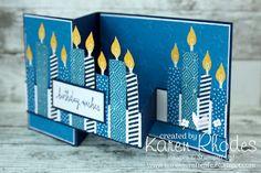 Karen's Craft Cafe: Build a Birthday - Double Z Fold Card