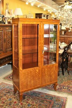 French Antique Display Cabinet | Living Room Furniture Antique Display Cabinets, Vintage Cabinet, Study Office, Home Office, Home And Deco, China Cabinet, French Antiques, Living Room Furniture, Dining