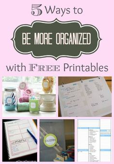 Home Organization | Get more organized for the new year with these five free printables!