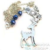 Bambi sinitaivaan alla - Helmipaikka Oy - Joka päivä on korupäivä - Helmipaikka.fi koruja netistä - Tea Design necklaces