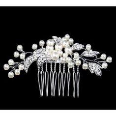 Tiara de Perlas y Brillantes de Imitación ideal como complementos de boda. Compre sus detalles de boda en www.daeryregalos.es