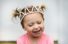 A bit of sunshine: pipe cleaner princess (and prince) crowns; perfect as a craft or costume for a princess birthday party, little girl's tea, dress-up party, Wizard of Oz theme, medieval theme, and more!
