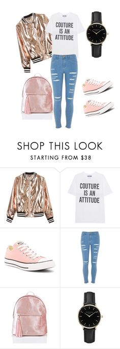 """""""Girly Sport"""" by cubamiami ❤ liked on Polyvore featuring Sans Souci, Moschino, Converse, River Island and ROSEFIELD"""