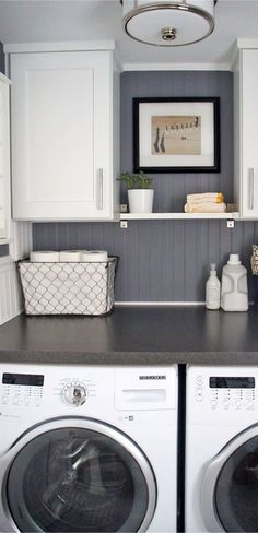 Get more room in a small laundry room!