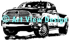 Our Dodge RAM Pickup design || Original and one of a kind || Pattern can be used for everything and every cutting machine || ♡