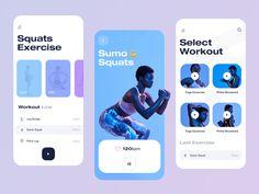 Fitness App Mobile by Martin Mroč on Dribbble App Ui Design, Mobile App Design, Web Design, Fitness Tracker App, Fitness App, Tracking App, Sports App, App Design Inspiration, Mobile App Ui